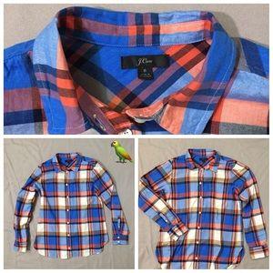 JCREW Women plaid shirt size 8